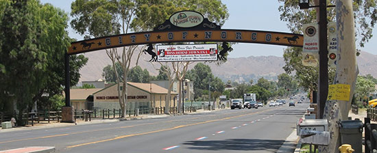 Norco city sign
