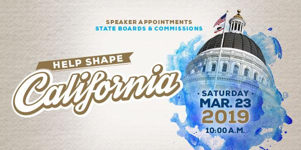 Help Shape California Appointments Workshop